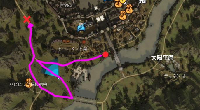 実際の移動マップ