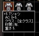 Tシャツの+1OE結果